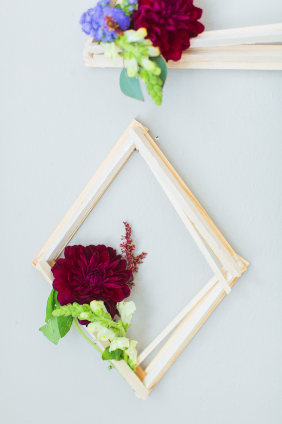 Paper n Stitch geometric floral wreath