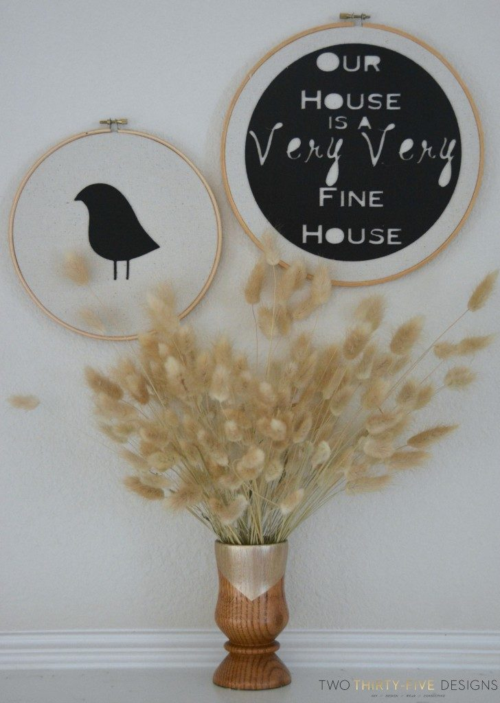 No Sew Felt Hoop Art via Two ThirtyFive Designs