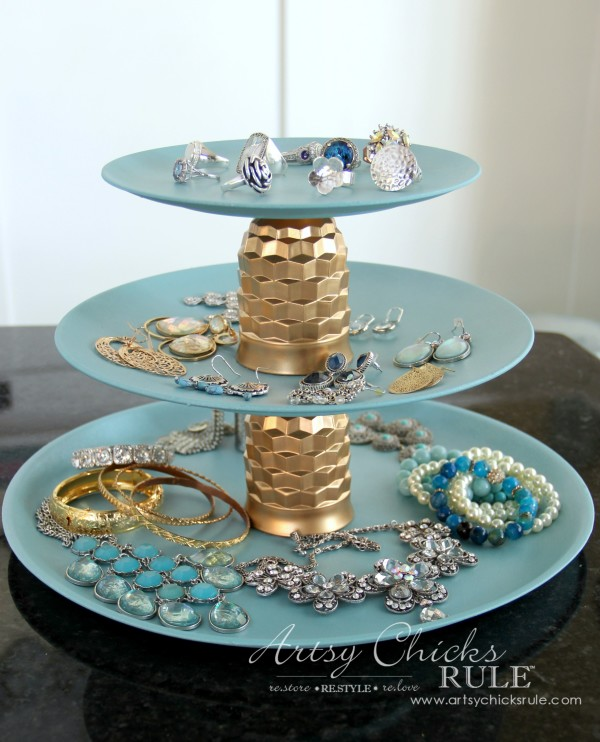 Thrifty Makeovers Swap It Challenge - Jewelry Tray DIY via Artsy Chicks Rule