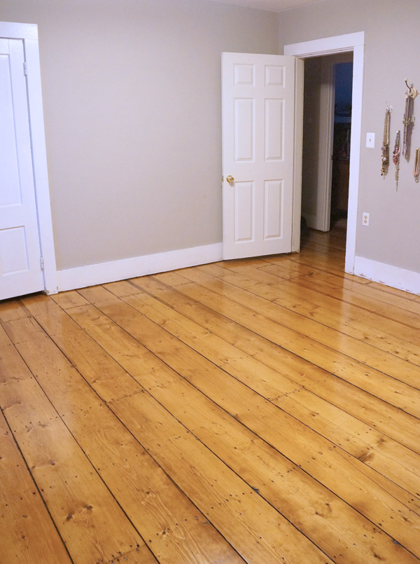 refinished antique floors via Year of Serendipity