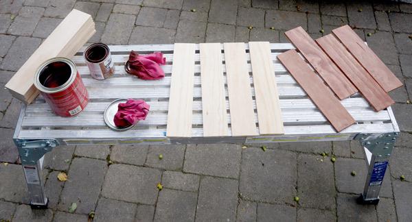 DIY Herringbone Headboard via Year of Serendipity