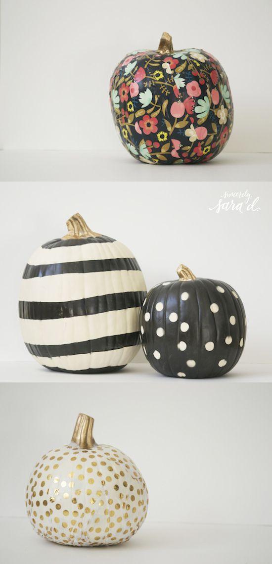 Unique pumpkins via Sincerely Sara D