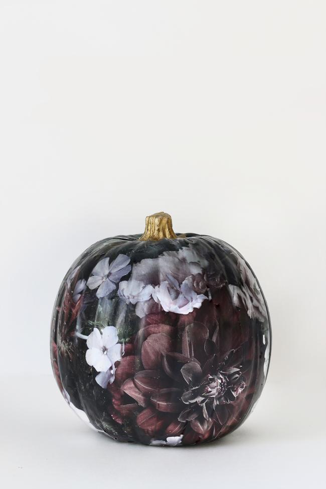 Floral Pumpkin Tutorial via Hunted Interior