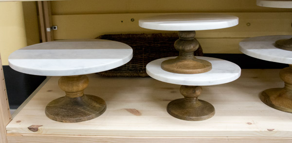 World Market marble cake stand via Year of Serendipity