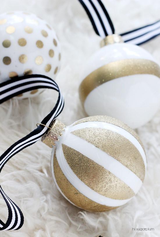 Hi Sugarplum- DIY-kate spade inspired ornaments
