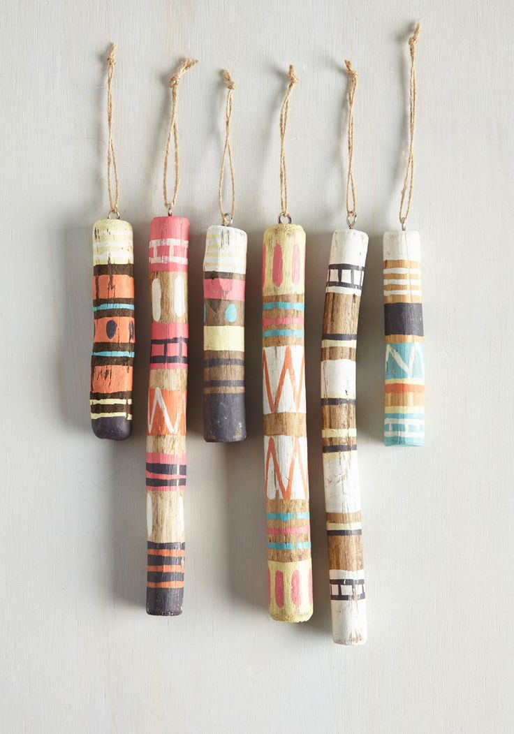 Modcloth painted stick ornament