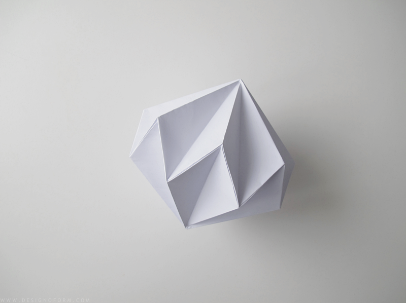 Design and Form- paper diamond diy