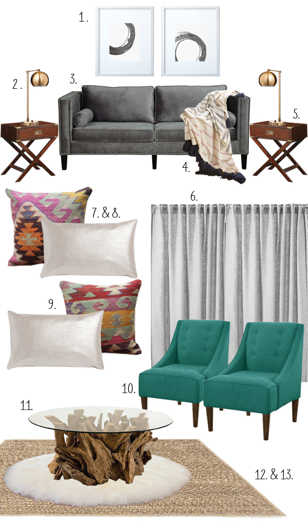 modern funky glam design plan- via Year of Serendipity