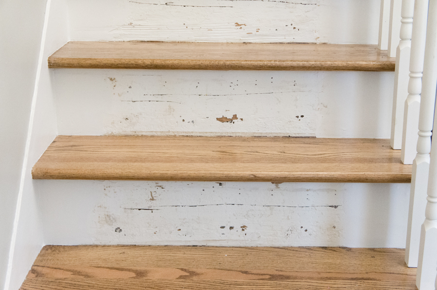 100 year old stair risers- via Year of Serendipity