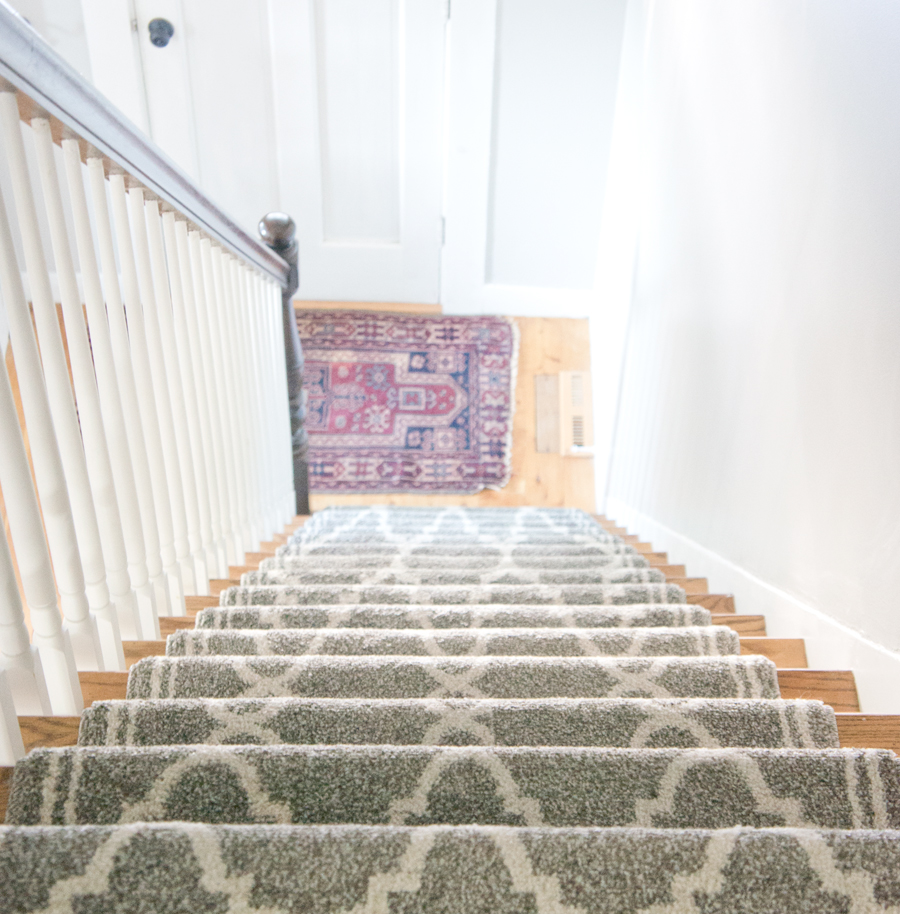 Installing a DIY Stair Runner- via Year of Serendipity