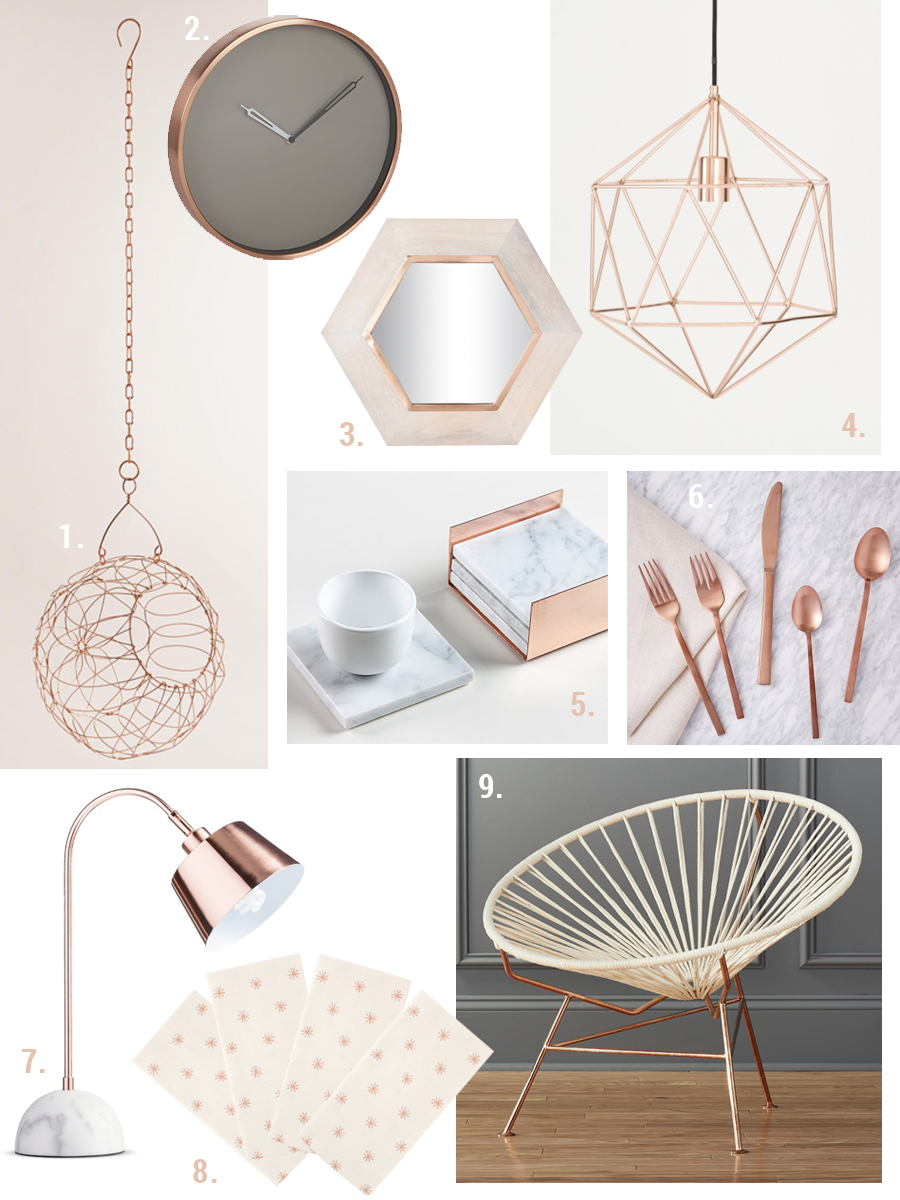 Copper Accents- via Year of Serendipity