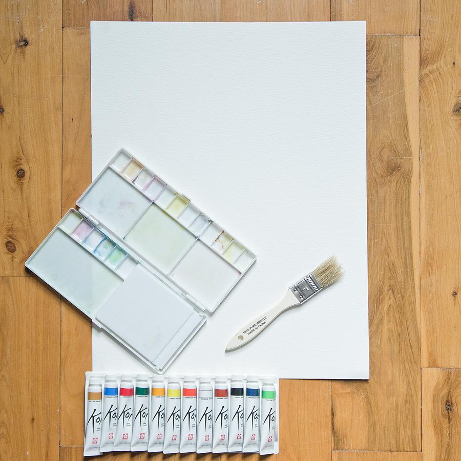 DIY watercolor art via Year of Serendipity
