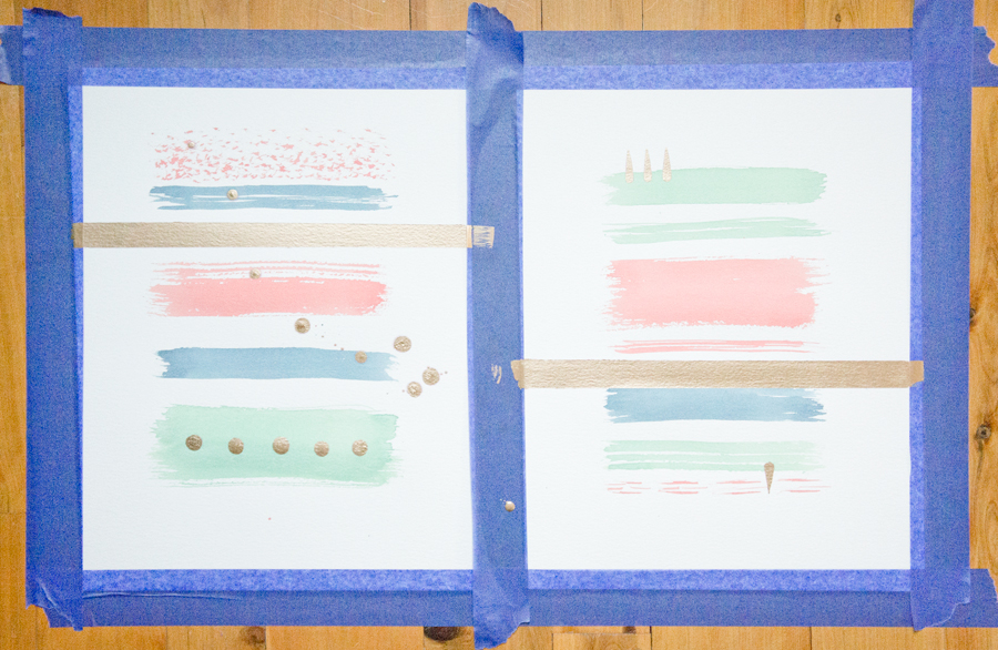 DIY watercolor art via Year of Serendipity