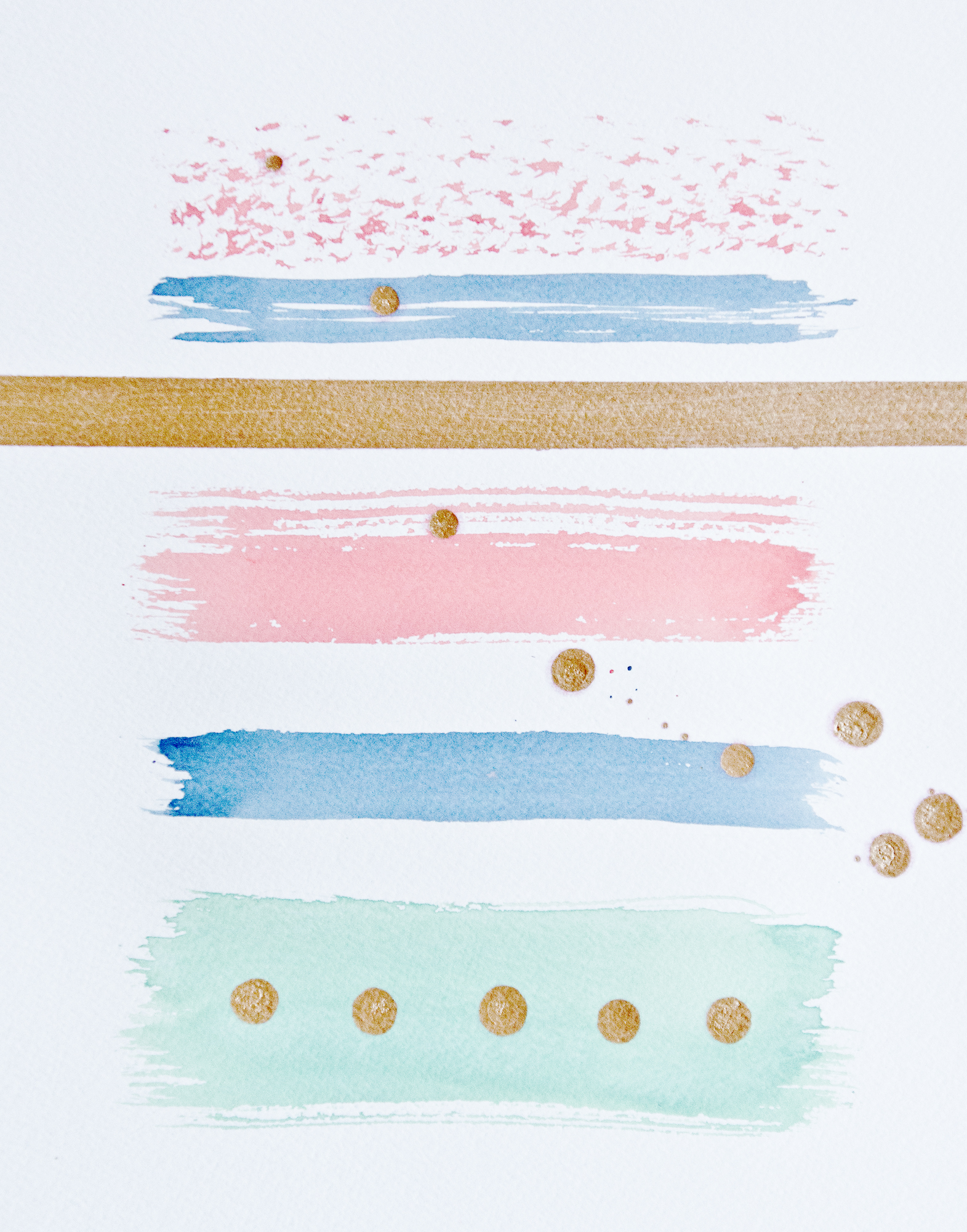 DIY watercolor art PRINTABLE via Year of Serendipity