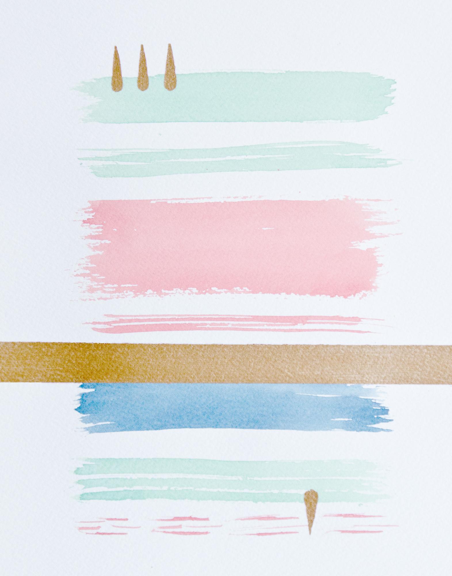 DIY watercolor art PRINTABLE via Year of Serendipity