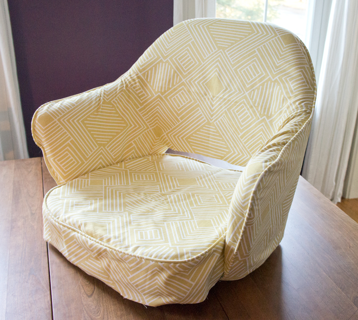 Antique chair 'slipcover' reupholstery project via Year of Serendipity