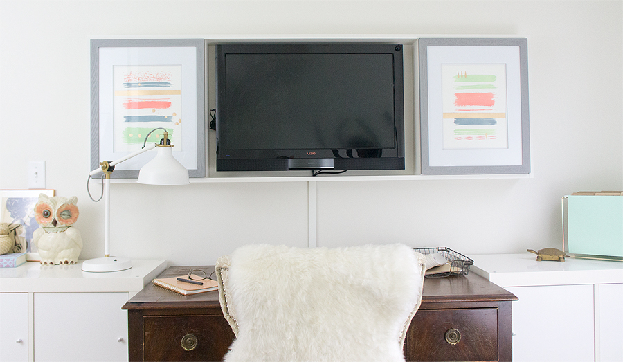 DIY TV cabinet via Year of Serendipity