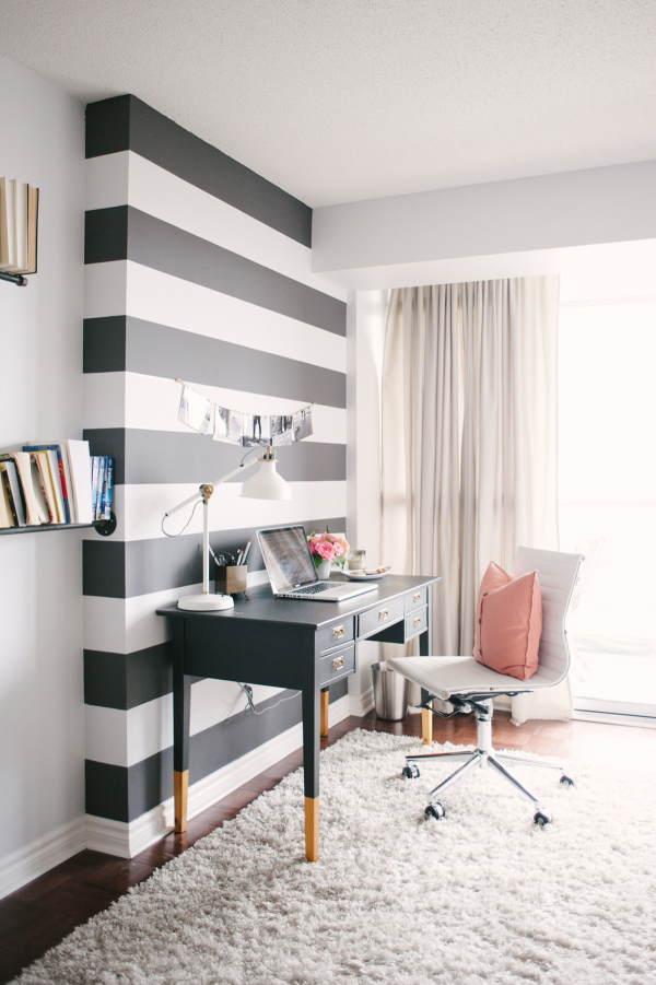 Style Me Pretty Living: Black and White Office