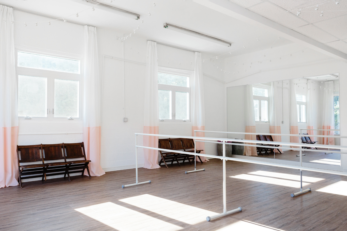 DanceFit Studio Reveal - Mirrors and Windows and Barres