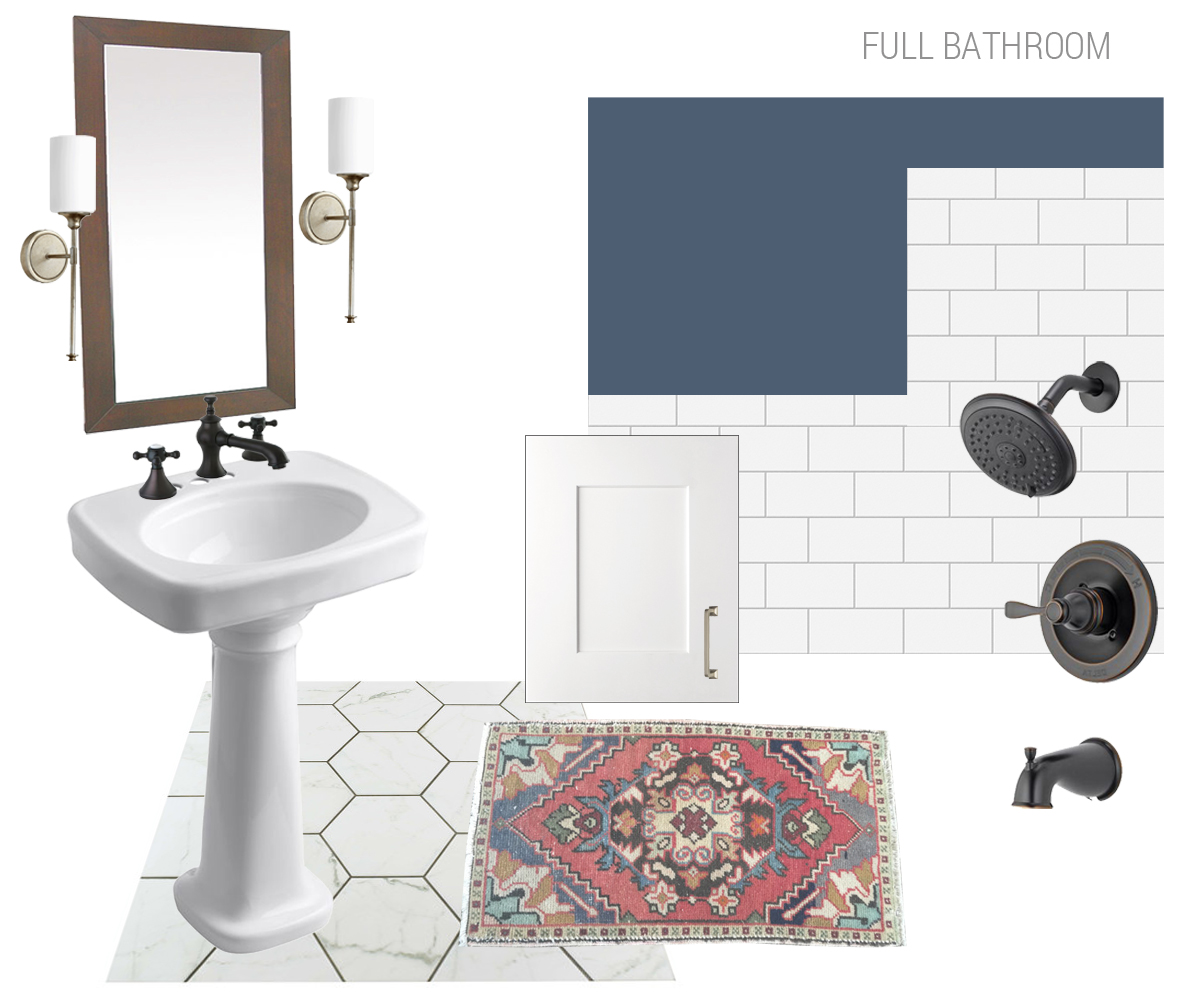 vintage home full bath plan