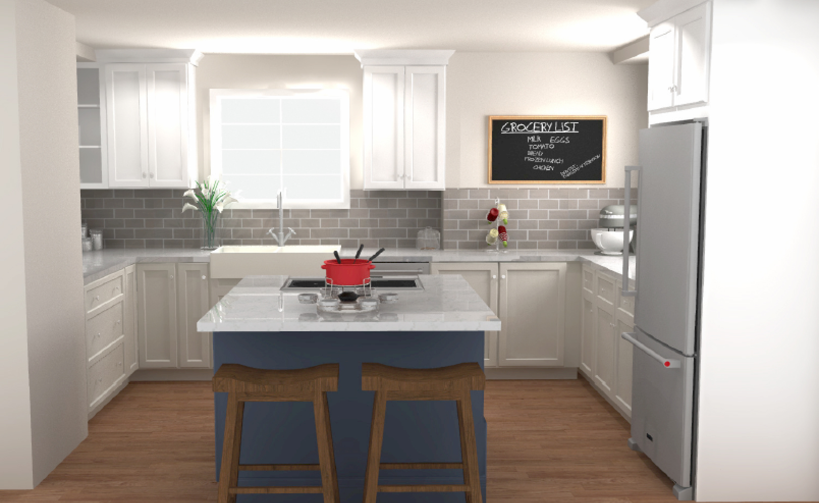 cabinets.com kitchen rendering for vintage home