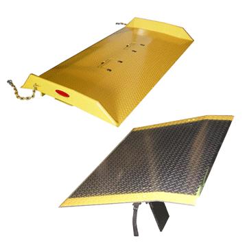 dock board vs dock plate side by side