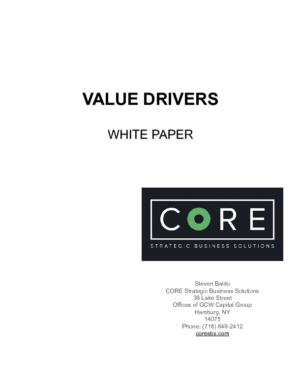 Value drivers white paper