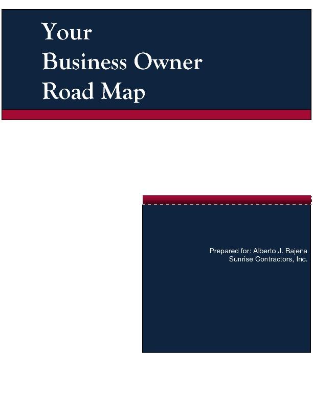 Sample exit plan road map