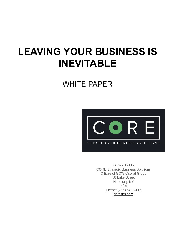 Leaving your business is inevitable