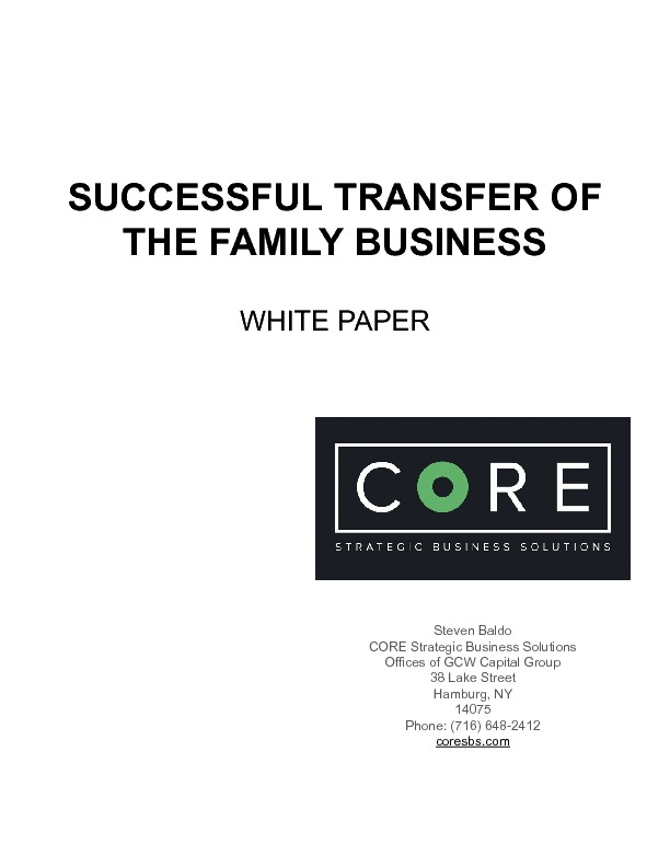 Successful transfer of the family business