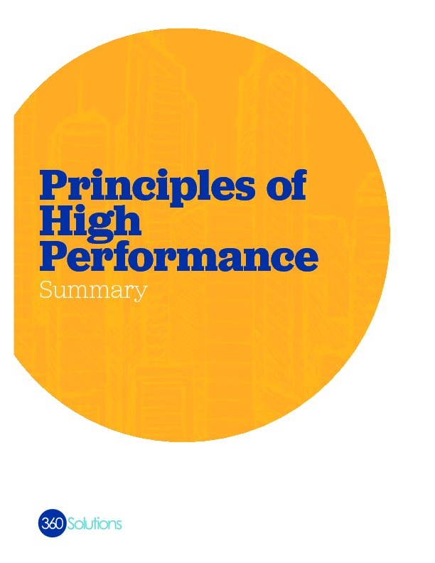 Principles high performance summary