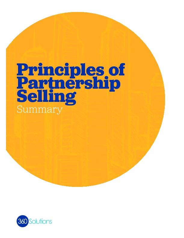 Principlesofpartnershipselling summary