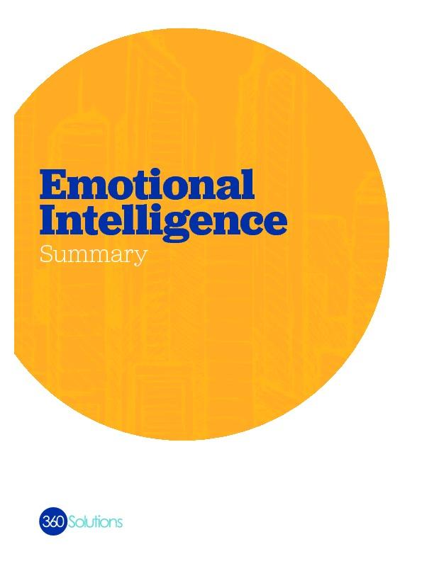 Emotionalintelligence summary