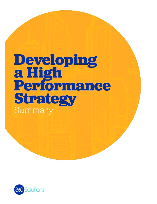 Developingahighperformancestrategy summary