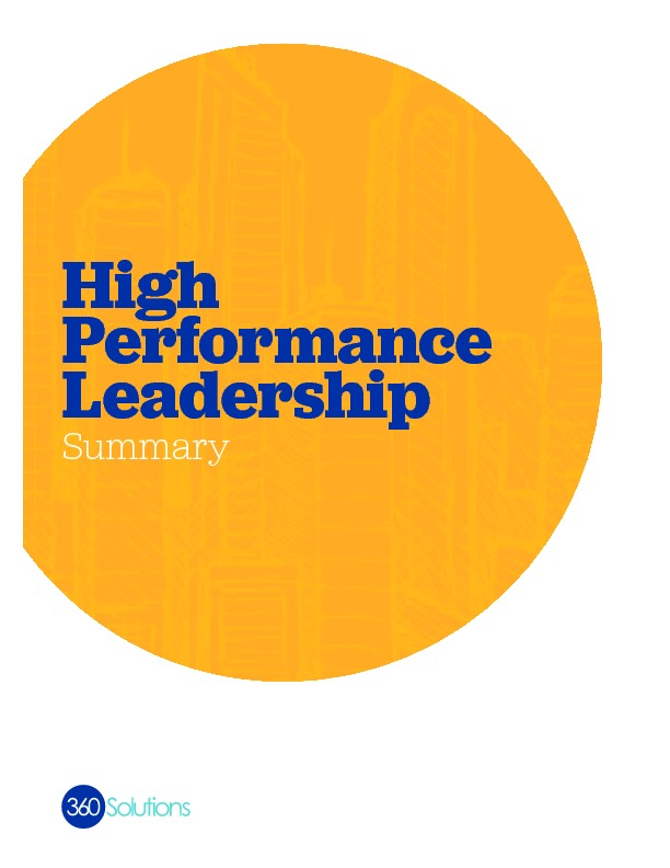 Highperformanceleadership summary