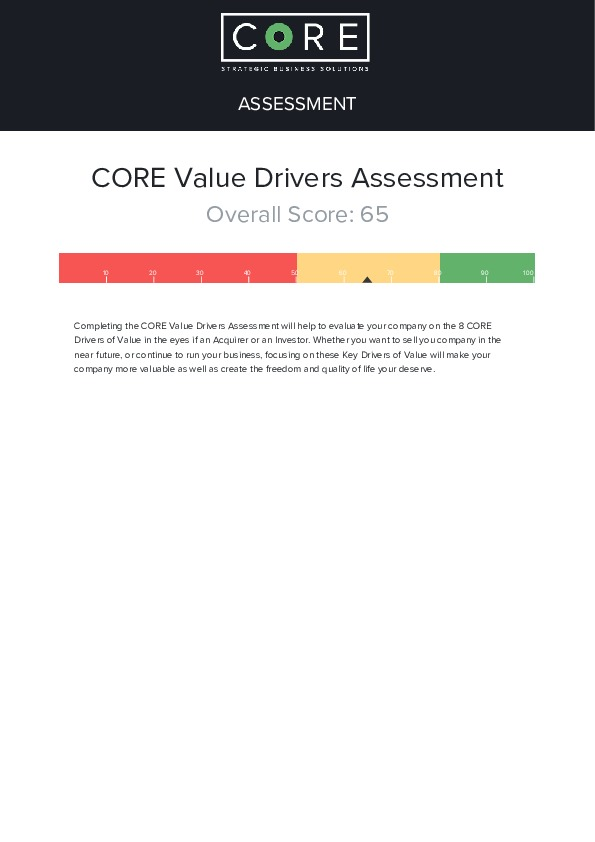 Core assessment results   75