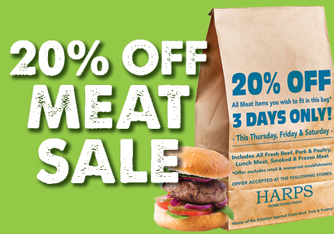 20% Off Meat Sale