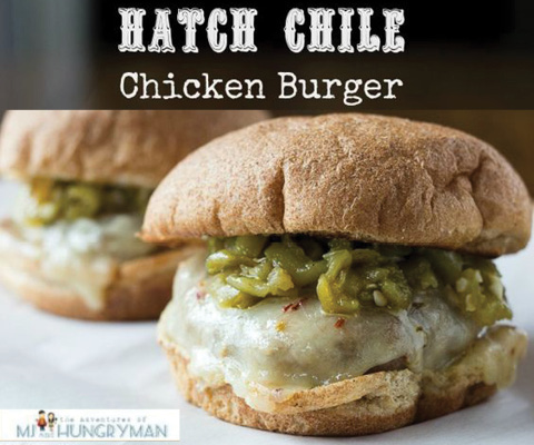 Hatch Chile Chicken Burgers