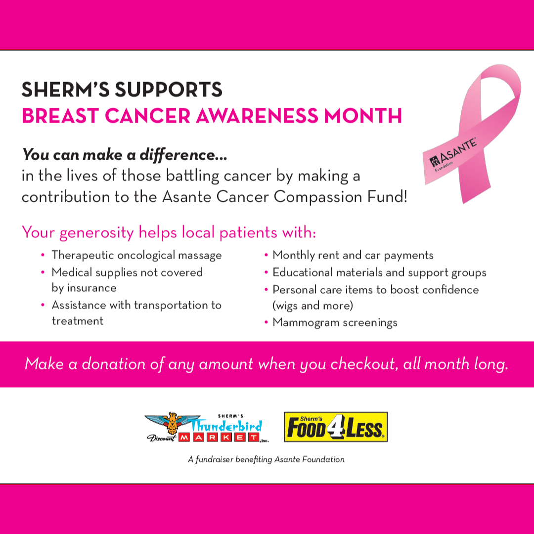 Sherm's Supports Breast Cancer Awareness Month