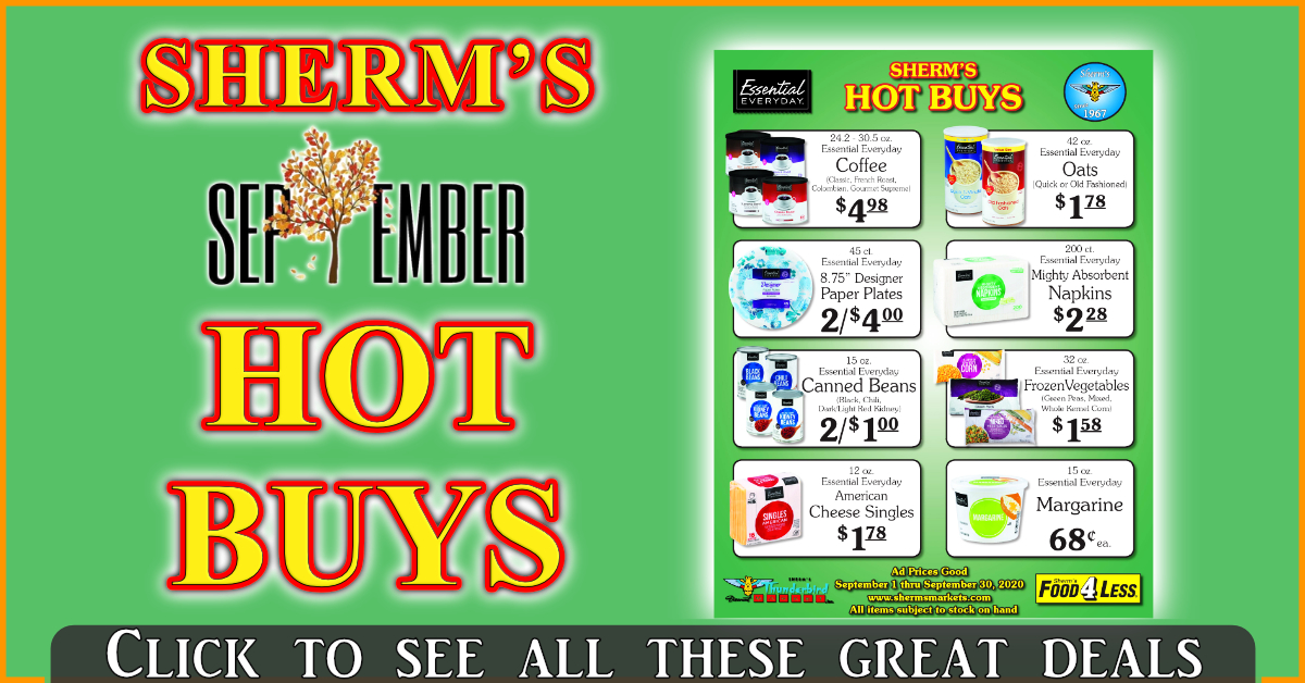 Sherm's September Hot Buys