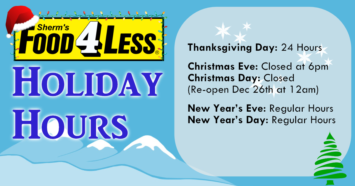Sherm's Holiday Hours