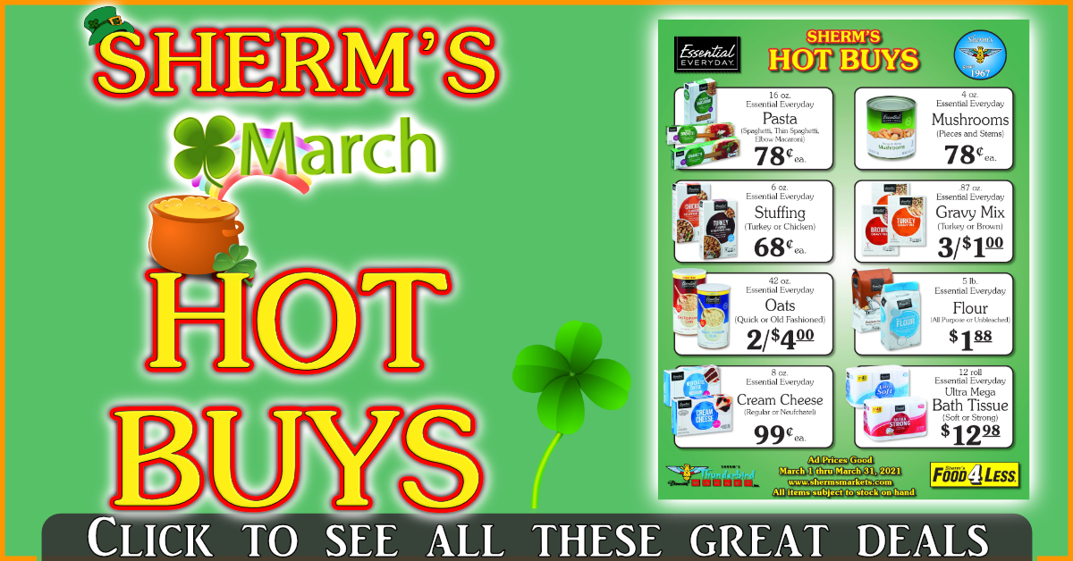 Sherm's March Hot Buys