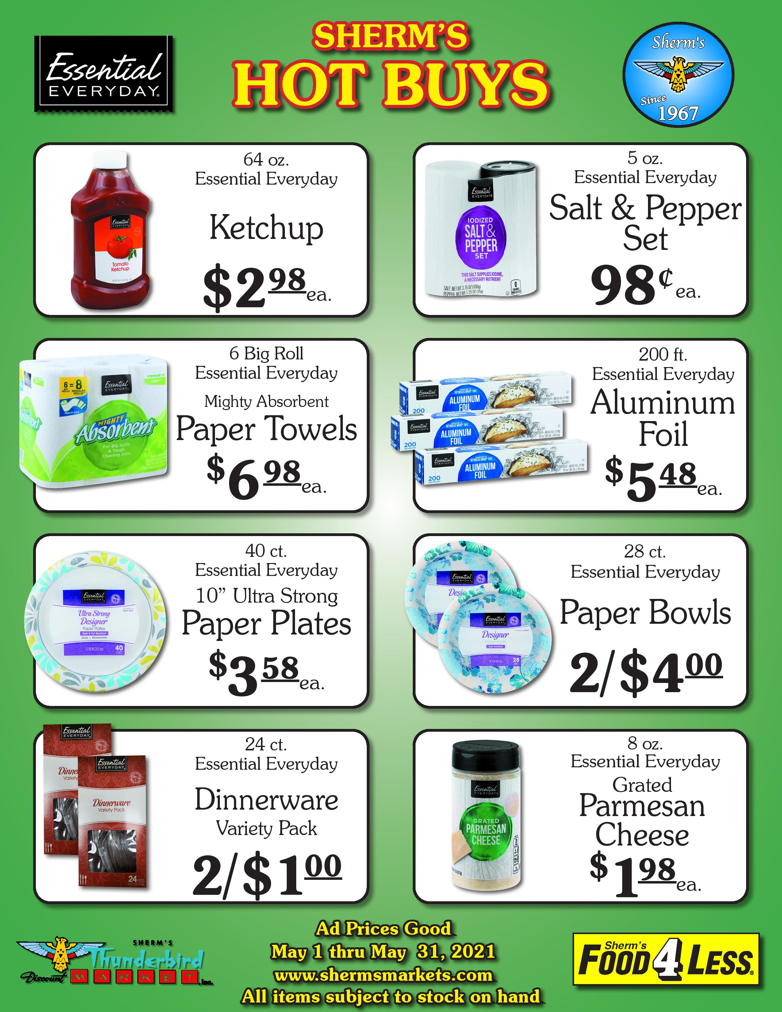 Sherm's May Hot Buys Printable PDF