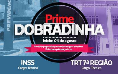 PRIME Dobradinha  - INSS TÉCNICO + TRT TÉCNICO