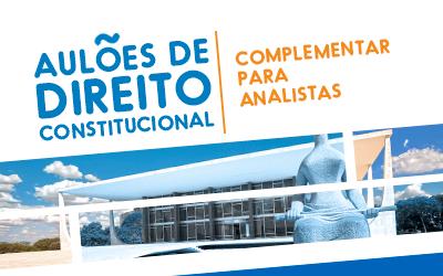 AULÕES DE DIREITO CONSTITUCIONAL