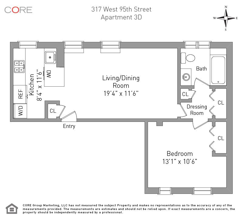 317 West 95th St. 3D, New York, NY 10025