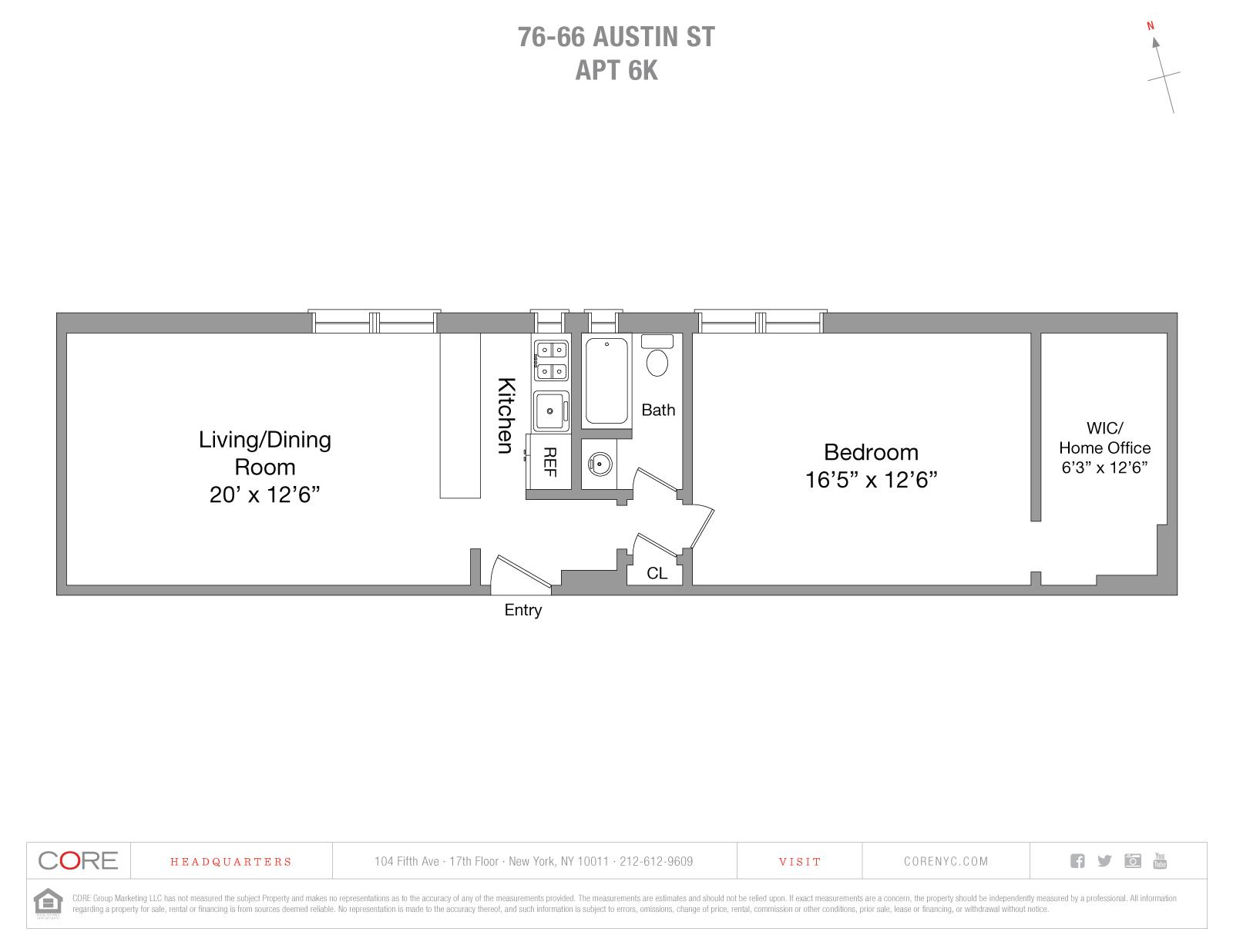 76-66 Austin St. 6K, Queens, NY 11375
