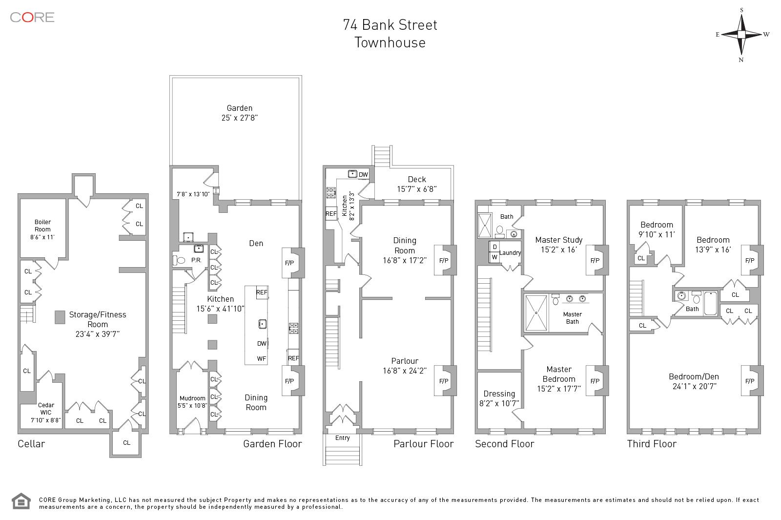 new york townhouse floor plans.  74 Bank St New York NY 10014