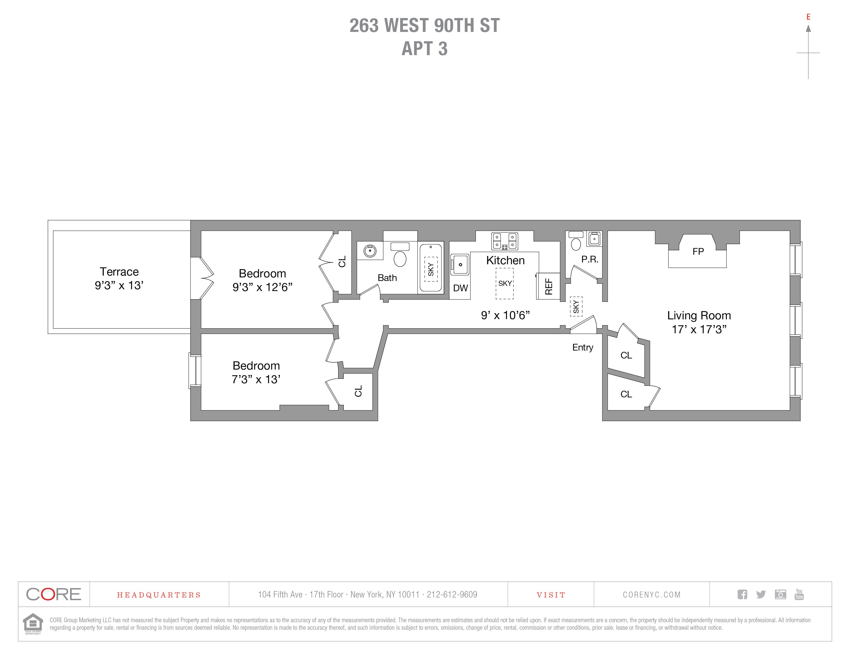 263 West 90th St. #3, New York, NY 10024