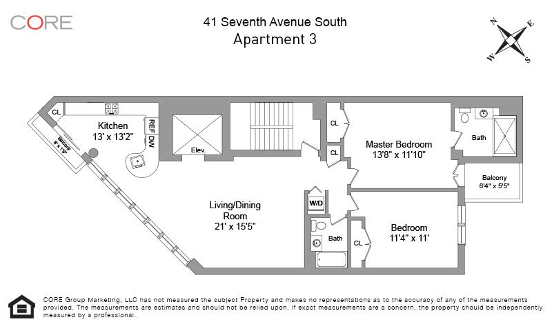 41 7th Ave 3, New York, NY 10014